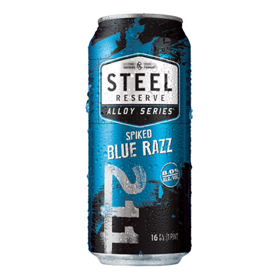 blue razz can